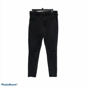 American Eagle 14 ripped distressed jegging jeans